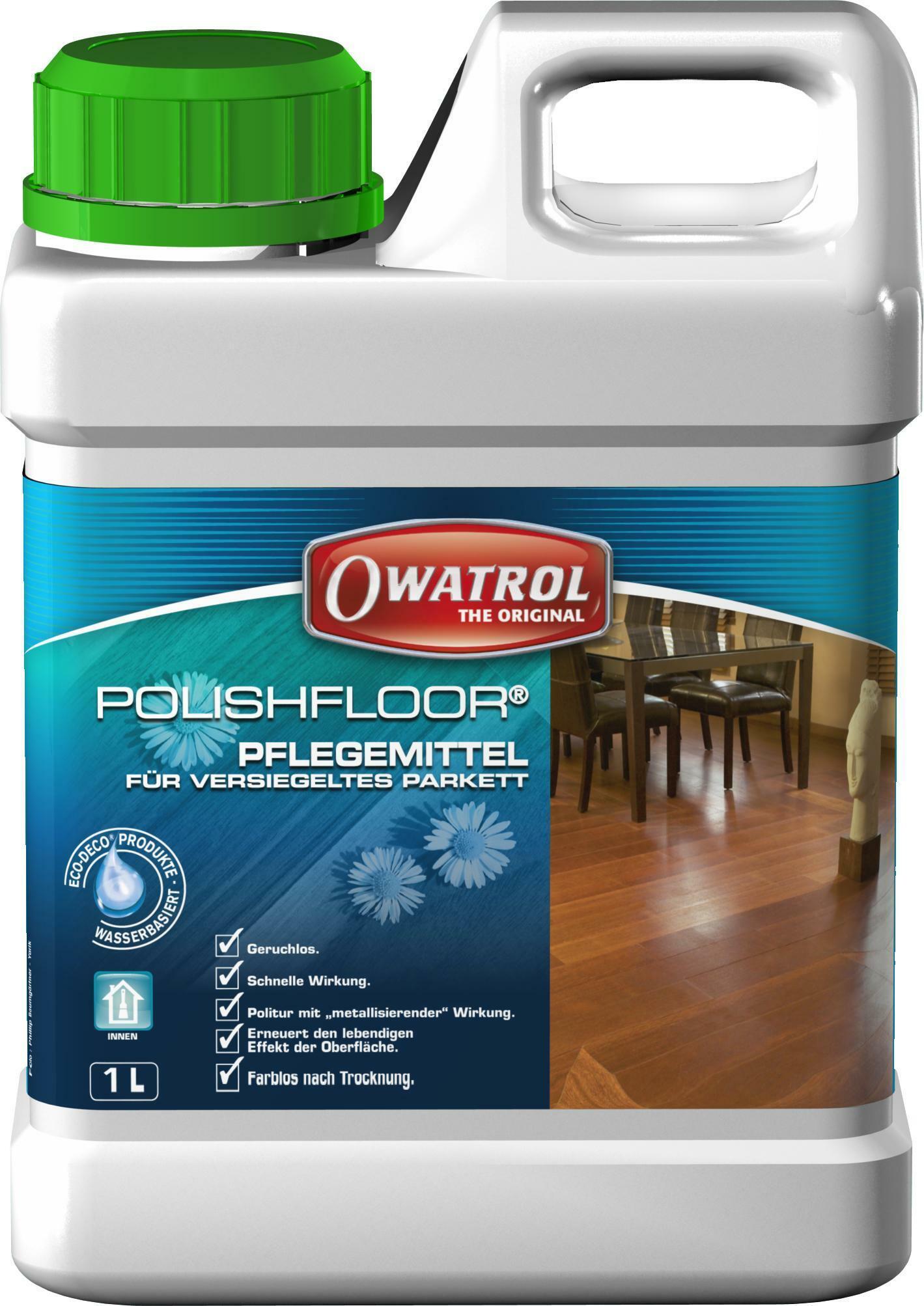 owatrol polishfloor 1 lt trattamento protettivo ravvivante metallizzante per legno incolore