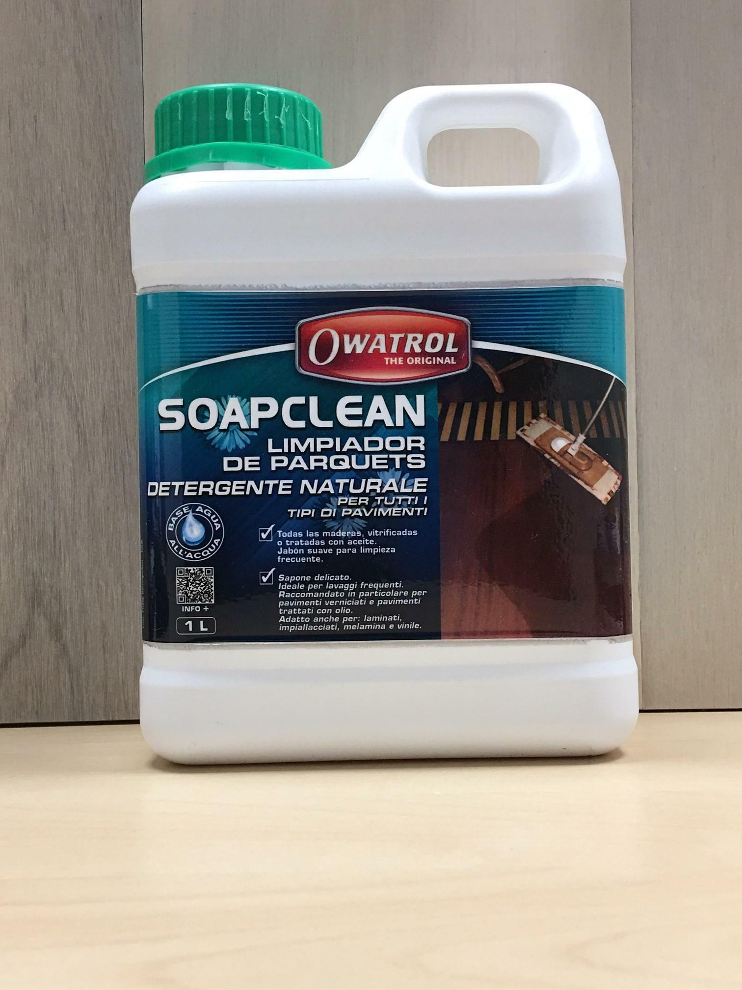 owatrol soapclean 1 lt sapone delicato per pavimenti in legno