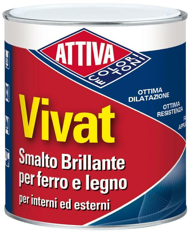attiva vivat smalto lucido nero al solvente 0,750 lt