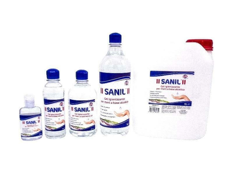 fidea igienizzante mani sanil gel a base alcolica 5 lt