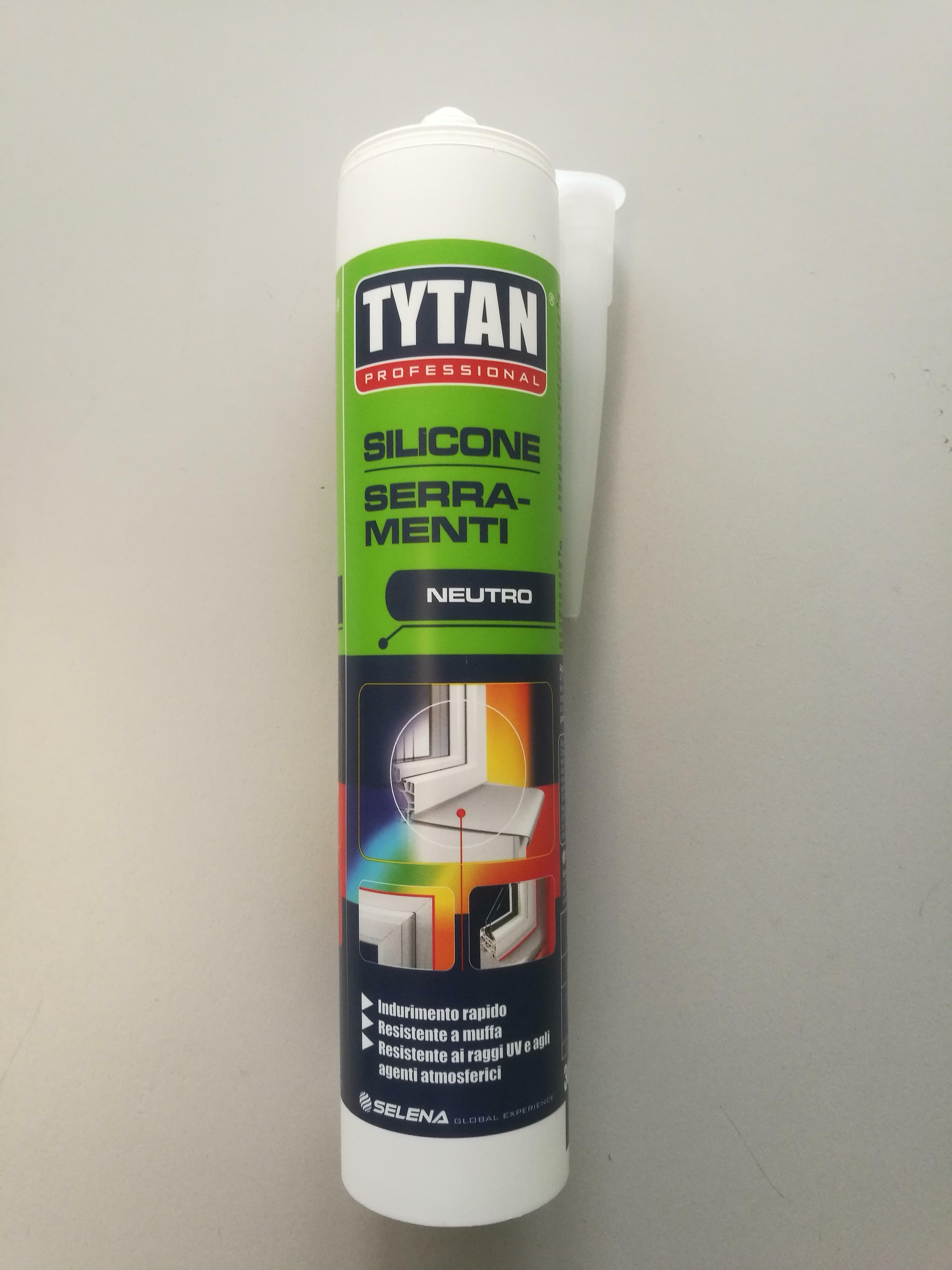 tytan professional tytan professional silicone neutro per serramenti colore nero 300 ml