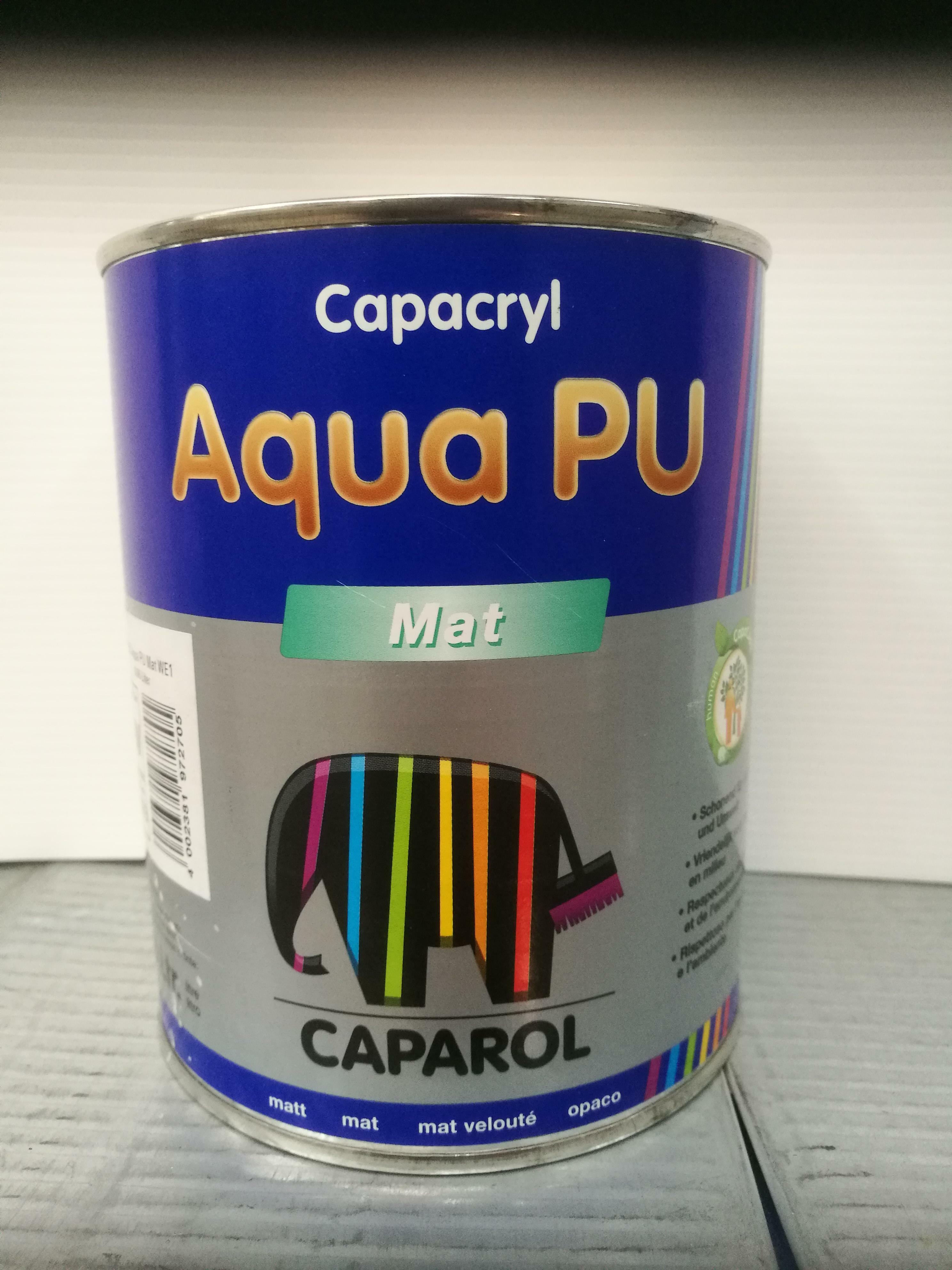 caparol caparol capacryl aqua pu matt base 1/w 0,96 litri smalto bianco opaco