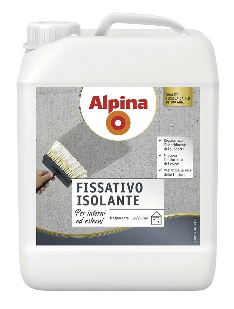 alpina fondo fissativo isolante acrilico alpina 5 litri