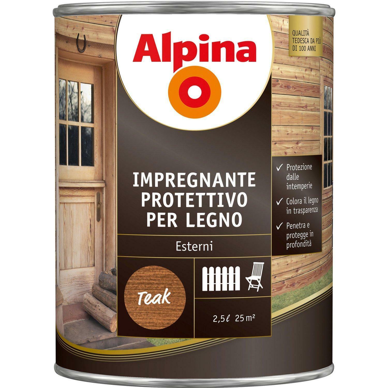 alpina alpina impregnante protettivo per legno colore larice 0,75 litri
