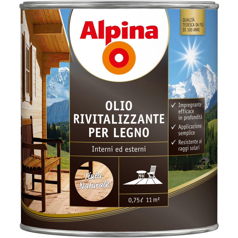 alpina alpina olio rivitalizzante per legno tinta naturale 0,75 litri