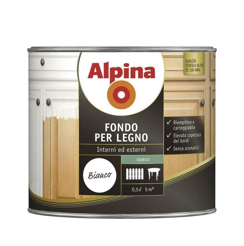 alpina alpina fondo per legno 0,5 litri al solvente