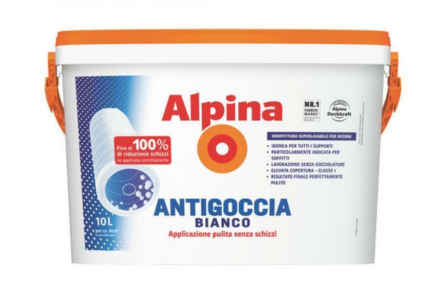 alpina alpina pittura lavabile opaca traspirante antigoccia bianco 10 lt
