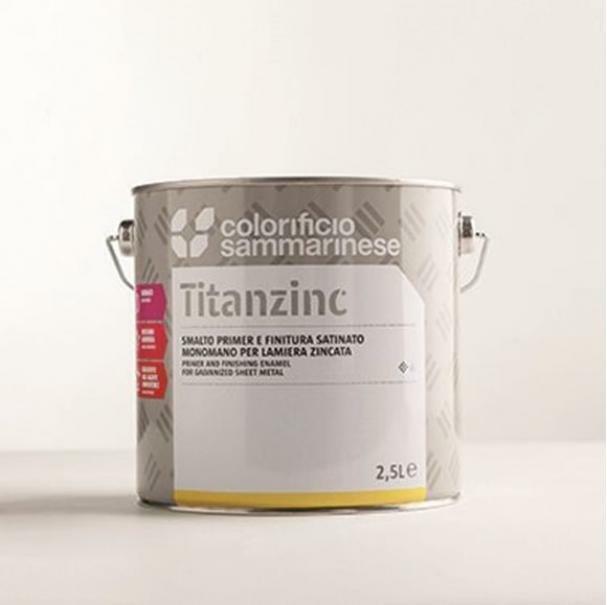 sammarinese sammarinese titanzinc bianco 0,75 litri smalto e primer satinato monomano per lamiera zincata