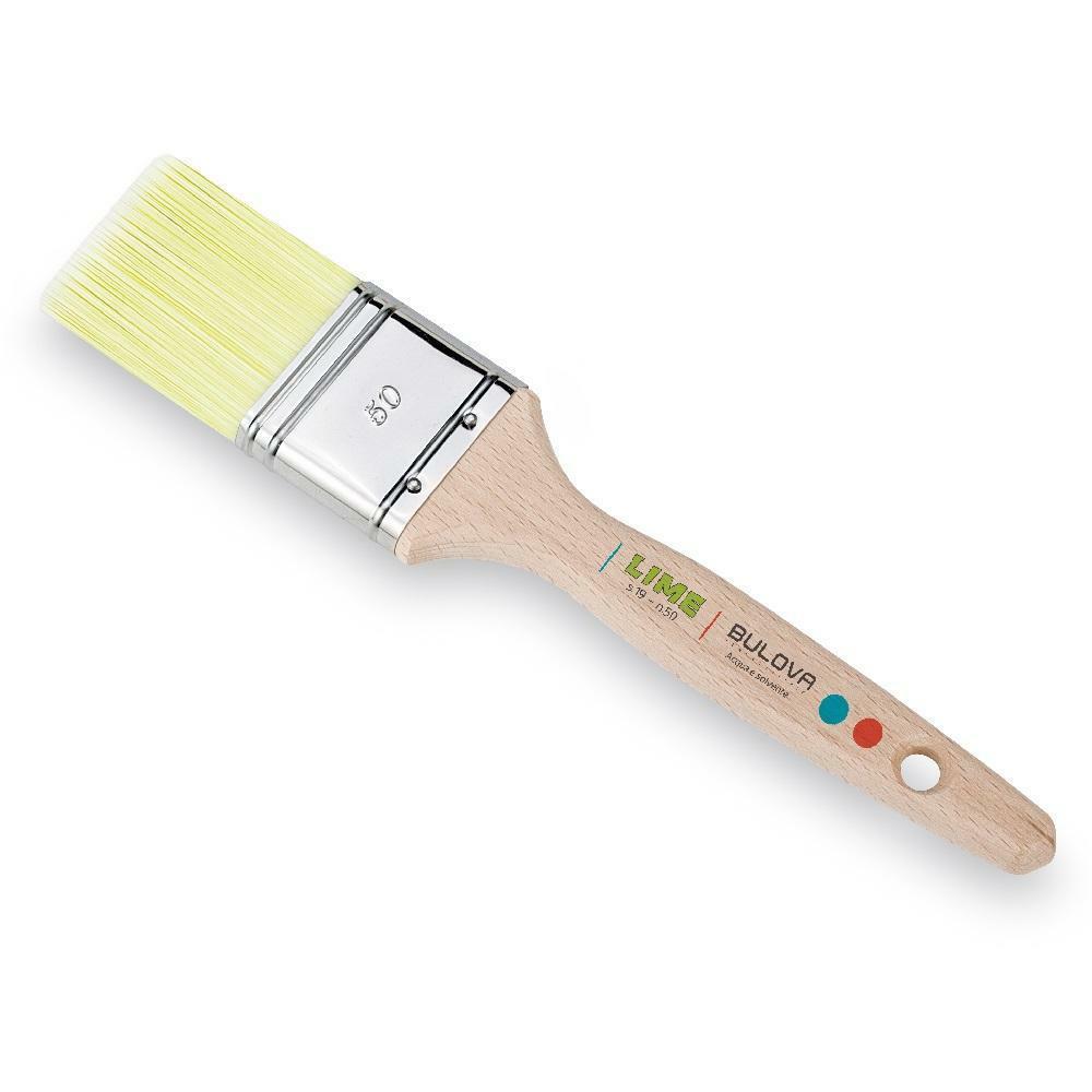 bulova bulova pennellessa lime inox 50x15 setola in fibra. adatto per smalti e vernici all'acqua e solvente