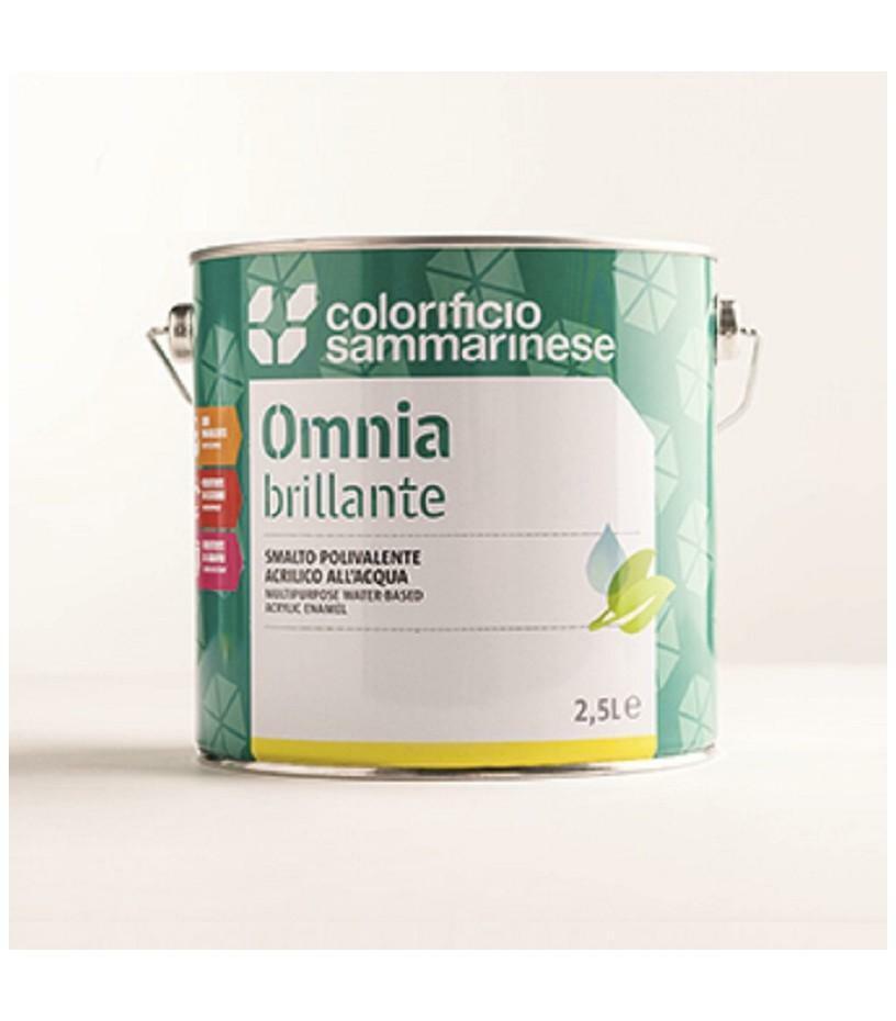 sammarinese sammarinese omnia lucido nero 2,5 litri smalto all'acqua