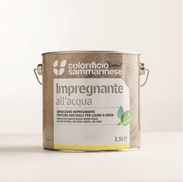sammarinese sammarinese sanolegno impregnante per legno colore castagno 2,5 lt