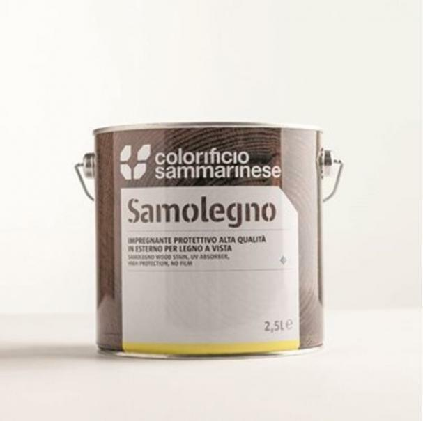 sammarinese sammarinese samolegno impregnante colore rovere 5 litri