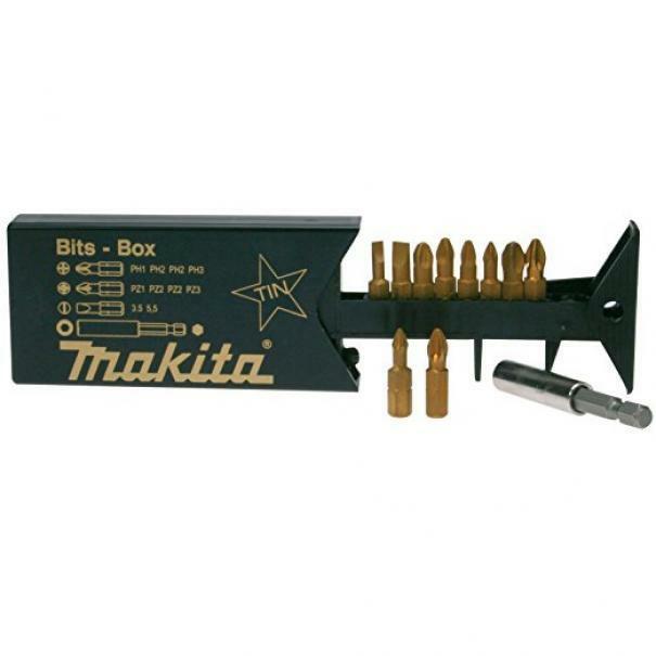 makita makita kit punte al titanio 10 pz p-49046 bits set inserti