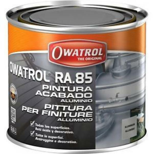 owatrol owatrol ra 85 0,5 lt pittura antiruggine e decorativa colore alluminio