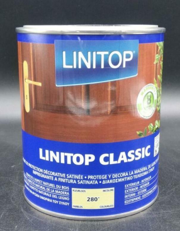 owatrol linitop classic 280 incolore  1 litri finitura trasparente satinata protettiva per legno