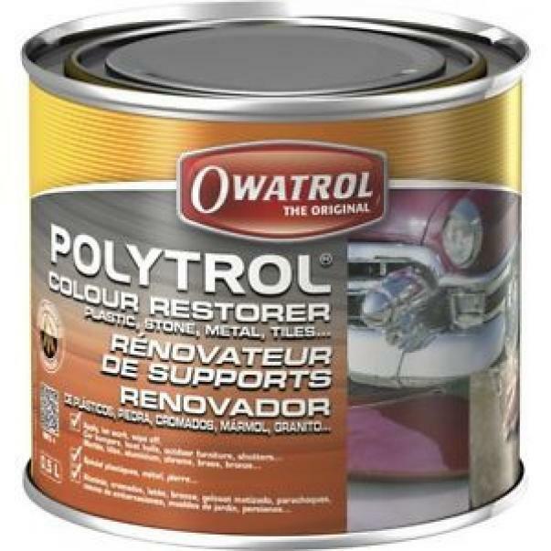 owatrol owatrol polytrol 0,5 lt rigenerante plastica, pietra, marmo, graniti, vernici e cromature