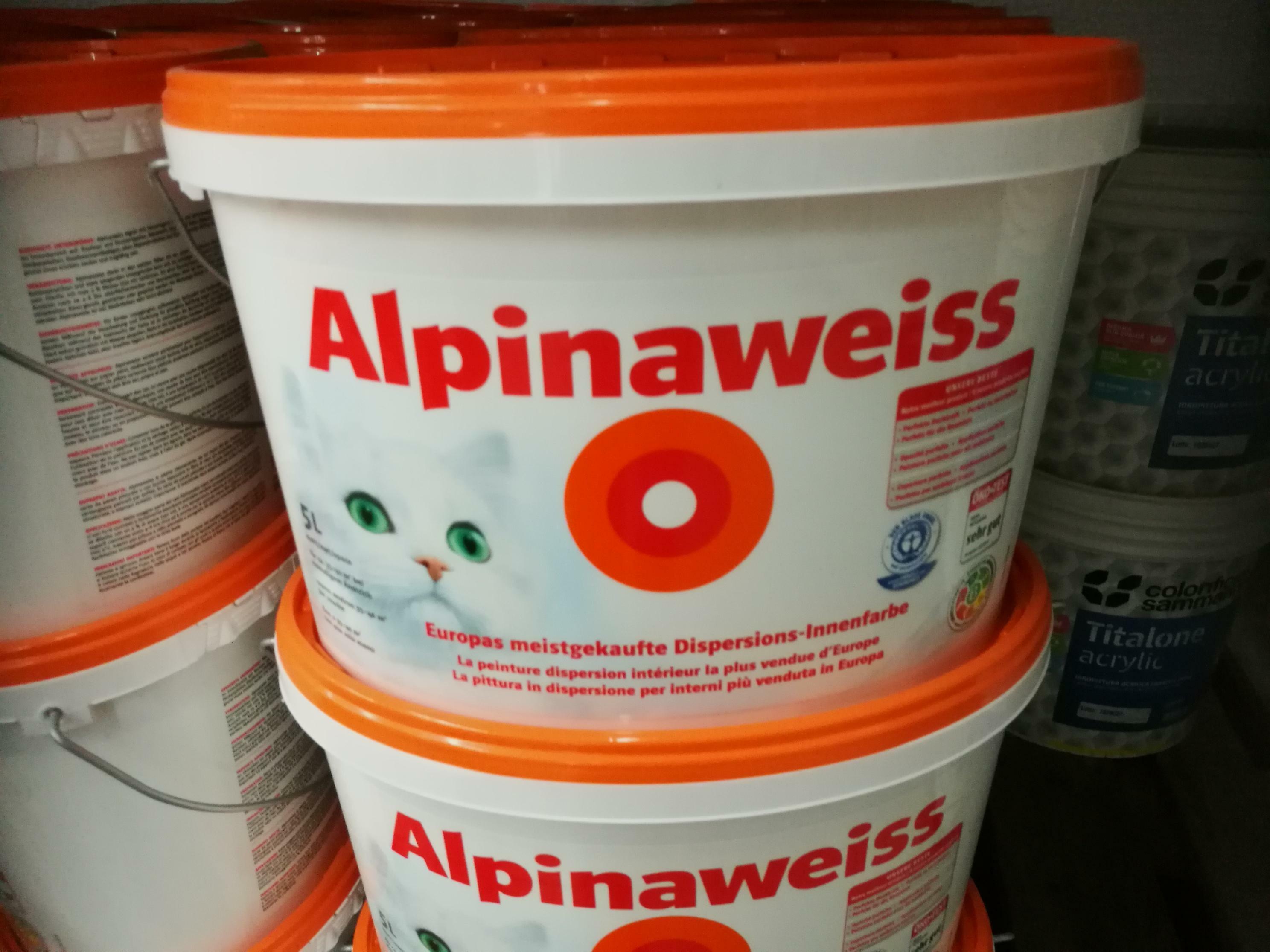 alpina pittura lavabile traspirante alpinaweiss 5 lt