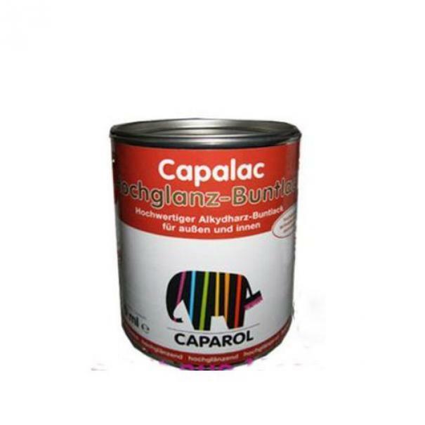caparol caparol capalac hochglanz-buntlack bianco 0,75 litri  smalto sintetico alta qualita' per interno e esterno
