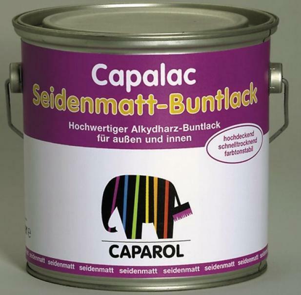 caparol caparol capalac seidenmatt-buntlack bianco 0,75 litri smalto sintetico alta qualita' per ferro e legno finitura satinata
