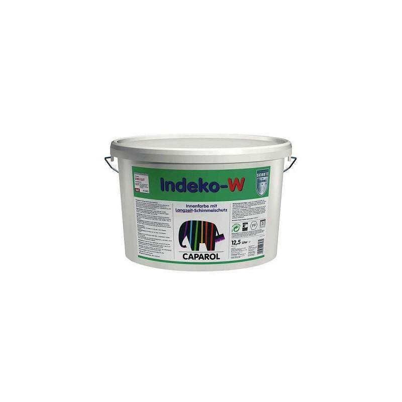 caparol caparol indeko w bianco 2,5 lt pittura opaca speciale con elevata azione preservante del film da muffe e parassiti dei muri