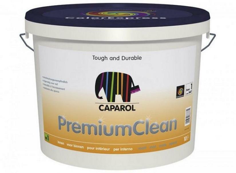caparol caparol premium clean base 1 bianco 10 lt pittura protettiva per interni, superlavabile, resistente a disinfettanti e detergenti.