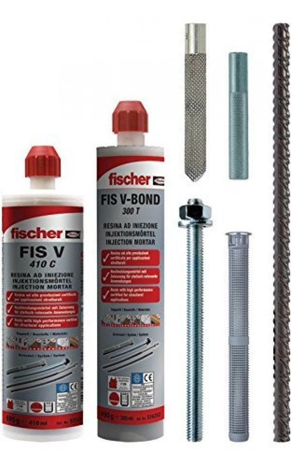fischer fischer resina ad iniezione fis v 410 c  certificata per applicazioni sismiche