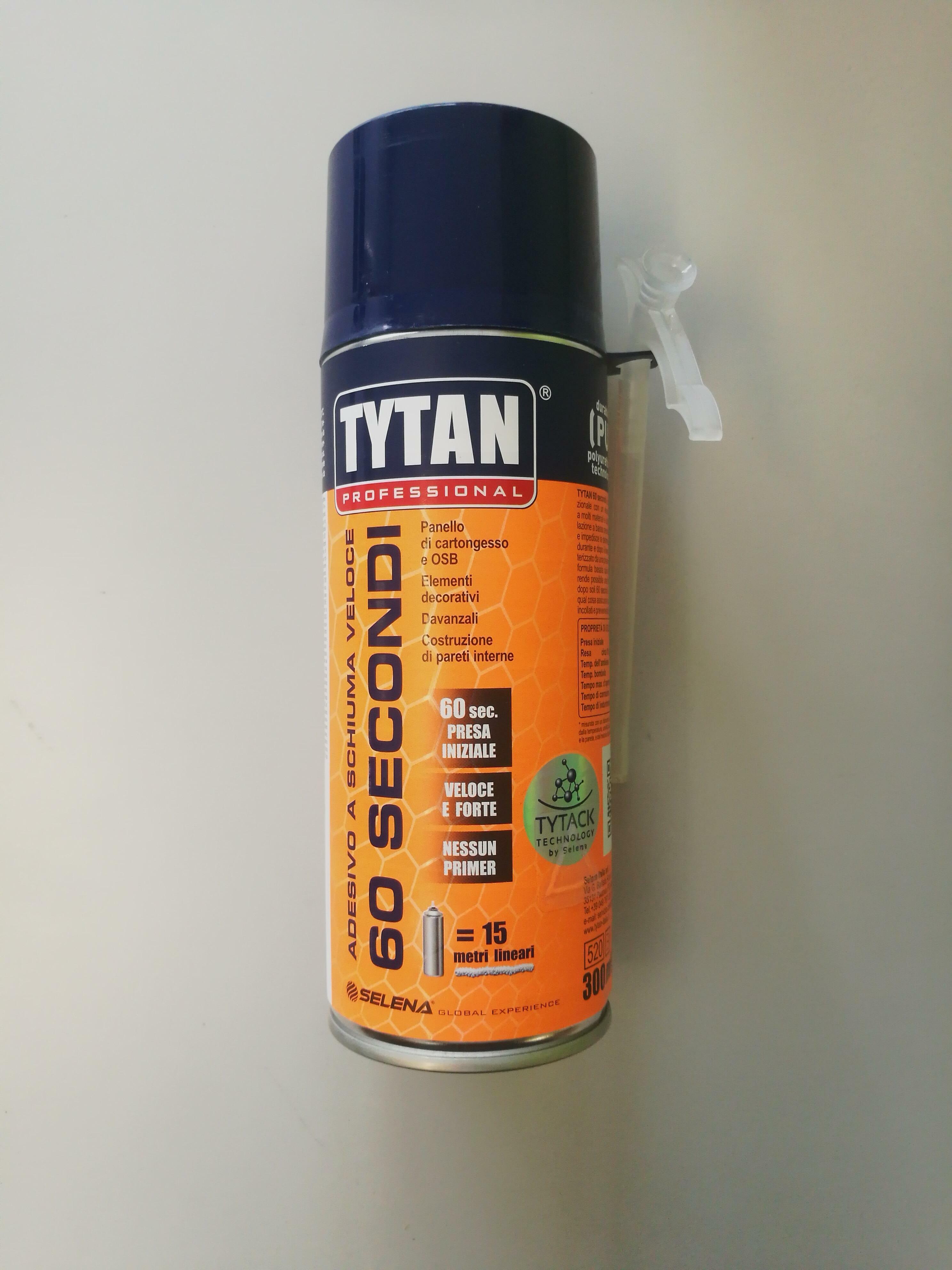 tytan professional tytan professional adesivo a schiuma veloce 60sec. 300ml tipo manuale