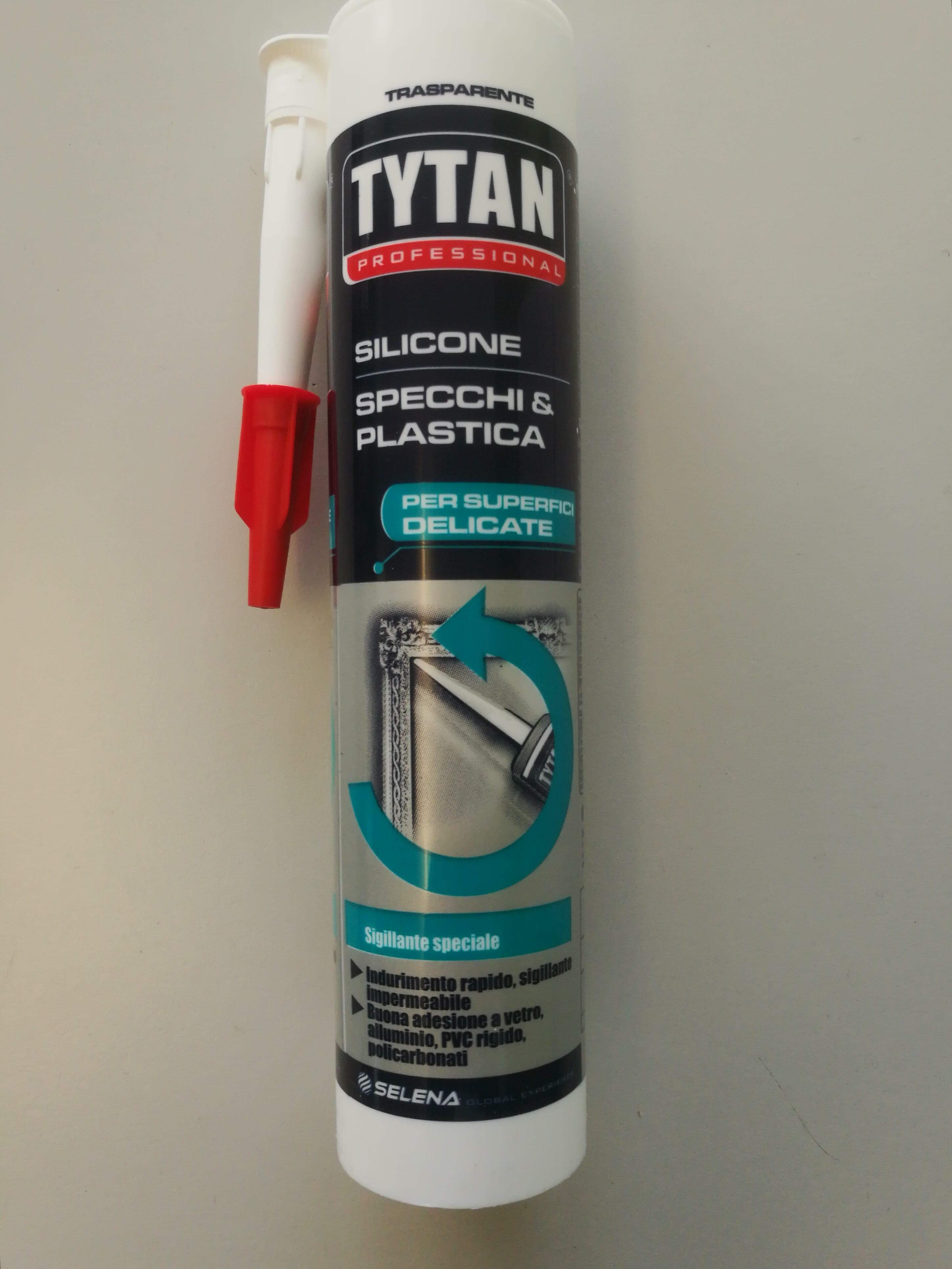 tytan professional tytan professional silicone per specchi e plastica trasparente 300 ml
