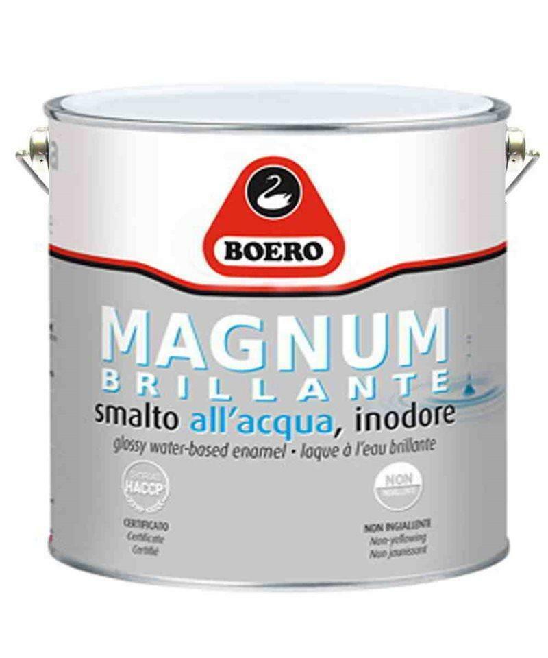 boero boero magnum lucido smalto all'acqua bianco 0,75 litri