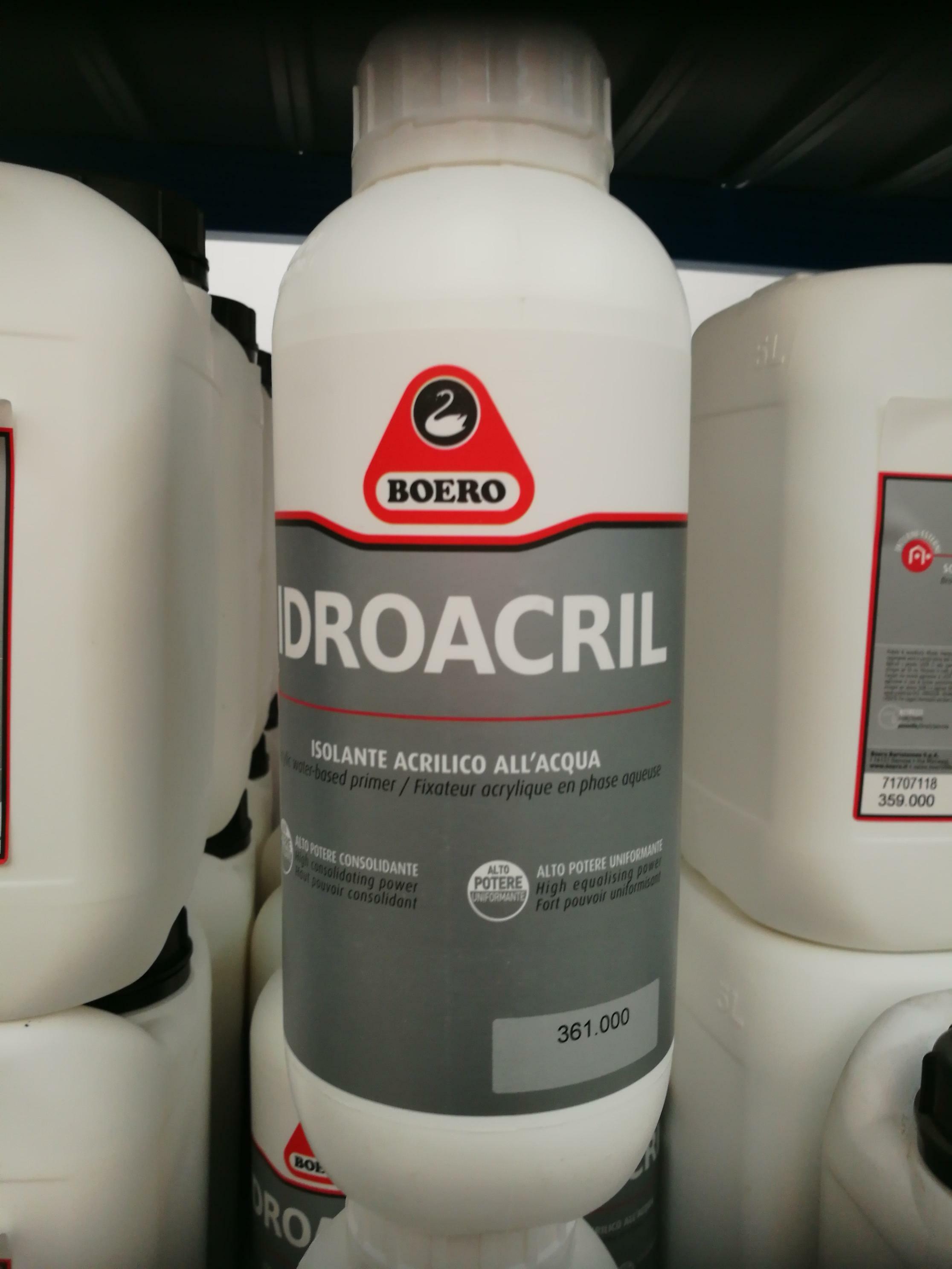 boero boero idroacril isolante acrilico 1 lt