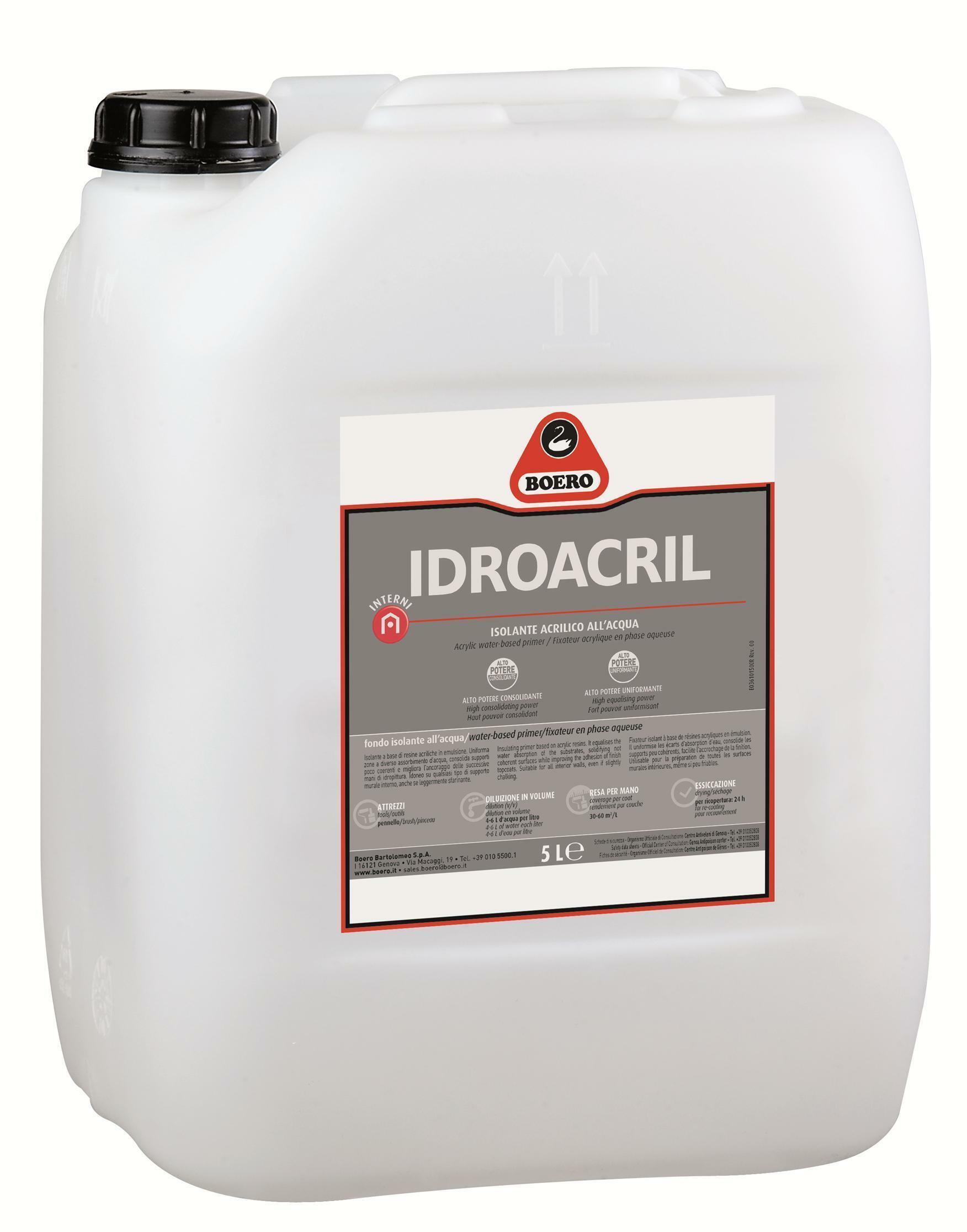 boero boero fondo fissativo idroacril acrilico 5 lt