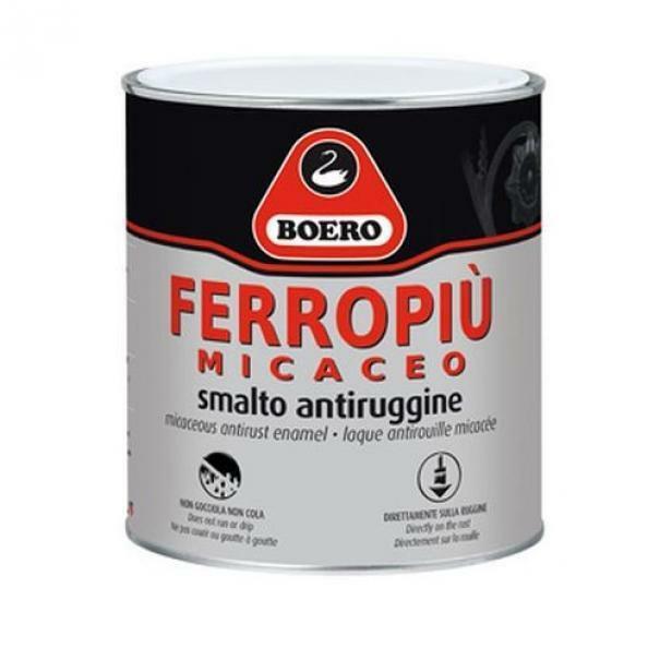 boero boero ferropiu grigio chiaro grana fine 0,75 litri smalto anticorrosivo per esterni ed interni effetto micaceo.