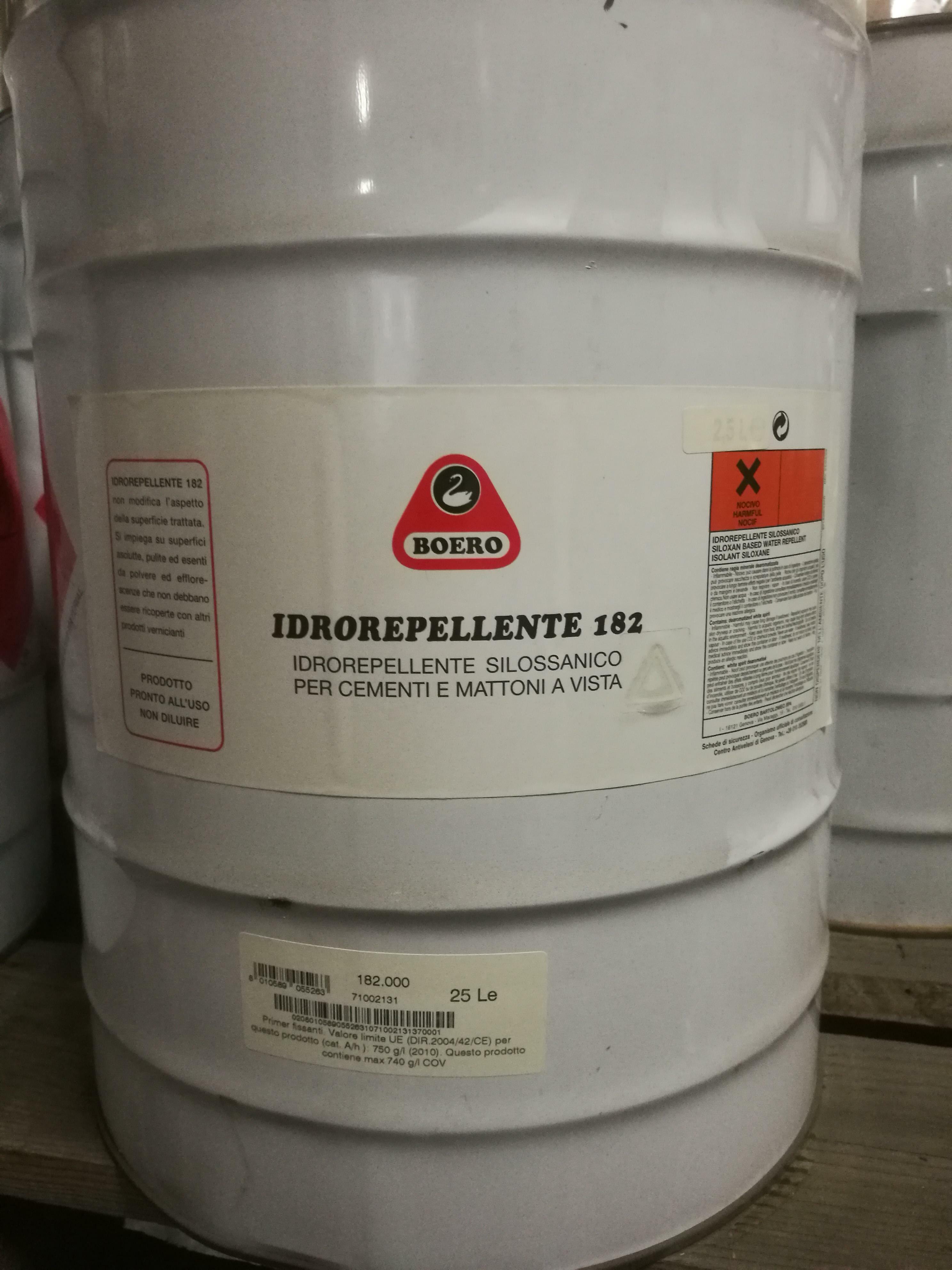 boero boero idrorepellente 182 silossanico 25 lt cod.182.000