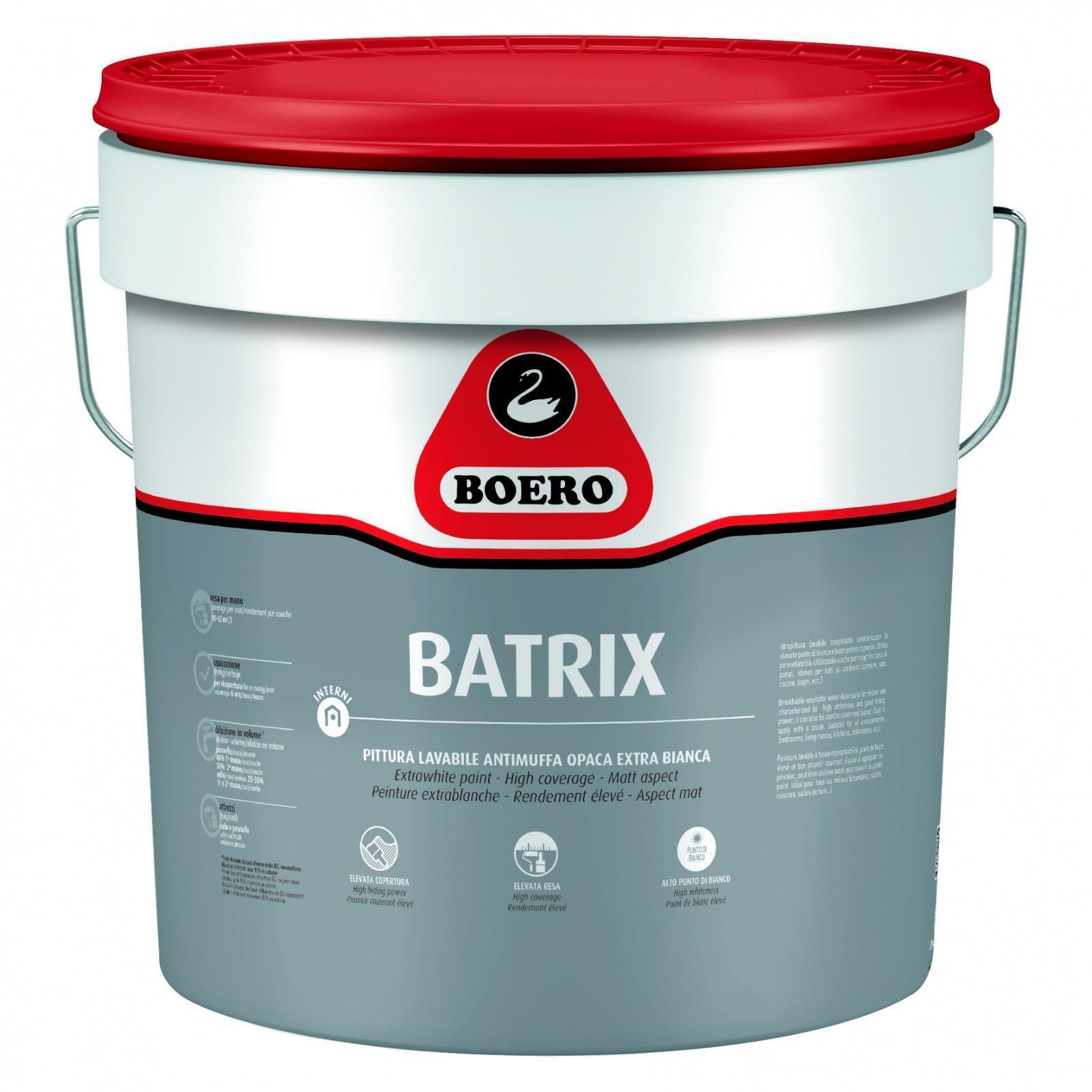 boero boero batrix pittura lavabile antimuffa 13 lt 345001