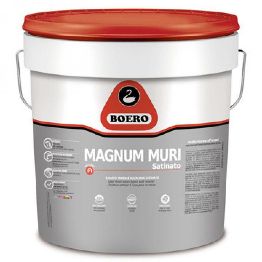 boero boero magnum per muri satinato bianco 4 lt cod.126.001