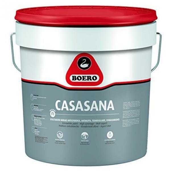 boero boero casasana anticondensa 5 lt rivestimento murale ad alta traspirabilità per interni, termoisolante, anticondensa, elevato potere antimuffa e fonoassorbente.