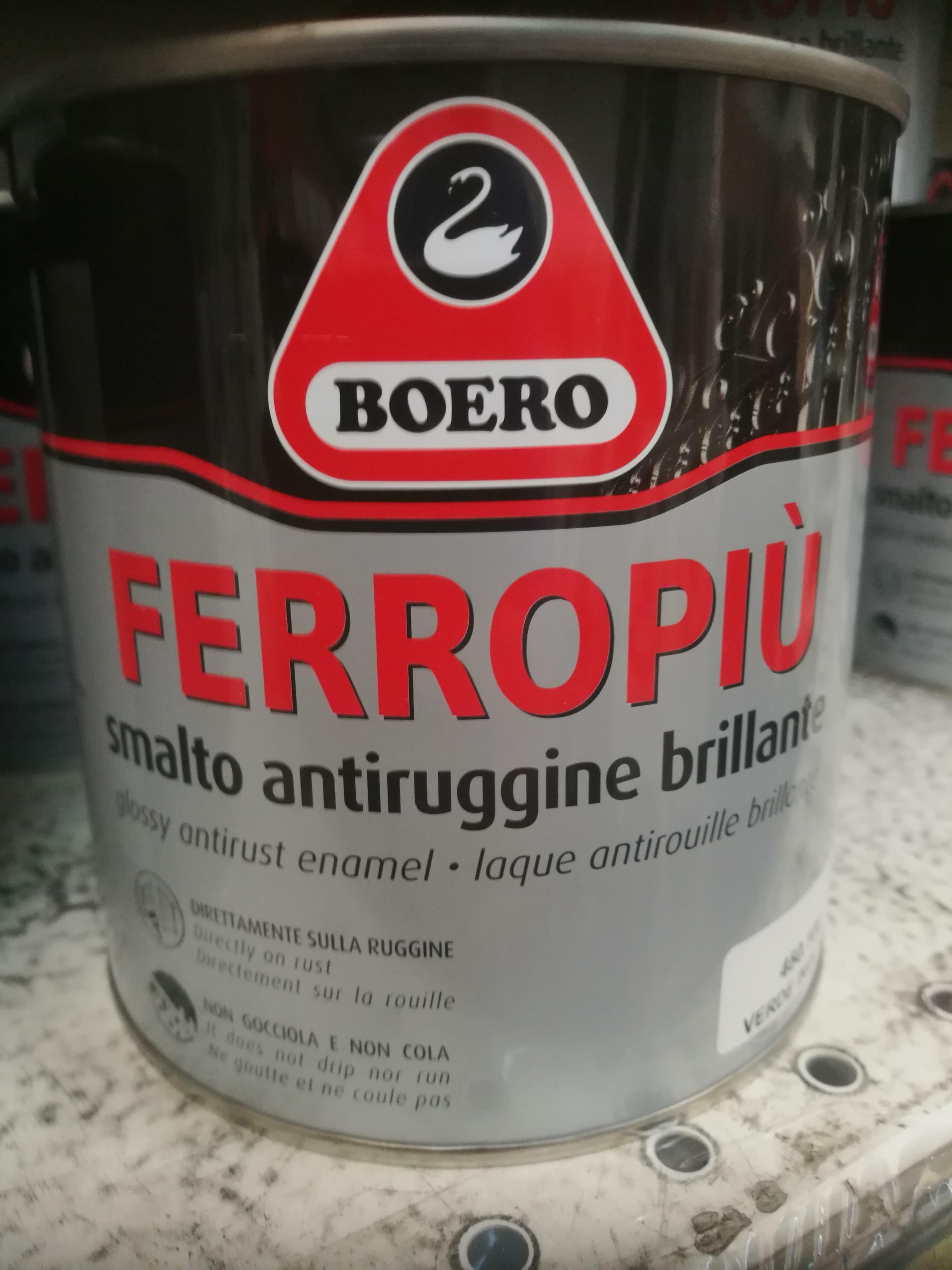 boero boero ferropiu antracite 0,75 litri smalto per ferro e legno
