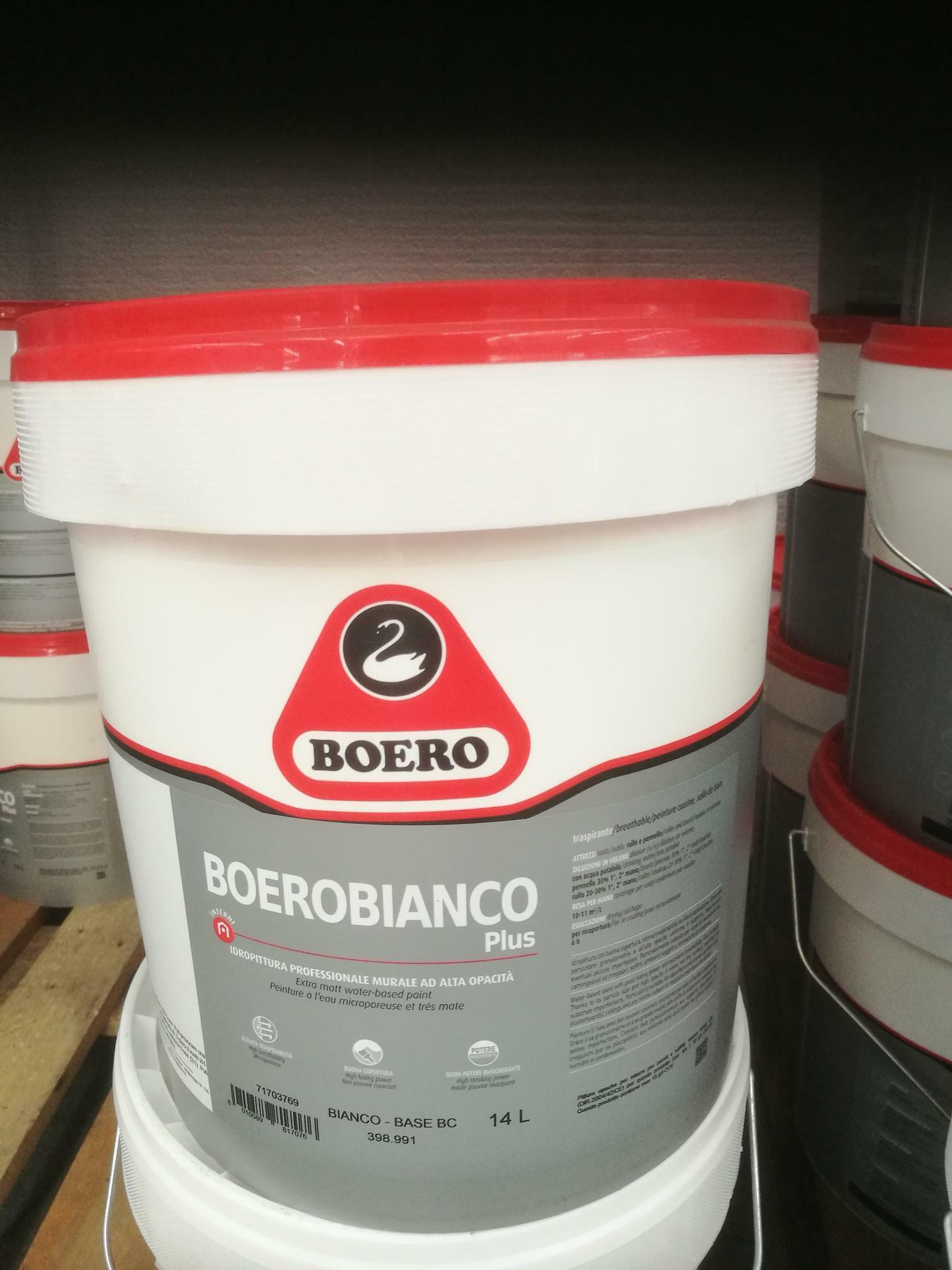 boero boero bianco plus 5 lt idropittura professionale murale ad alta opacita'