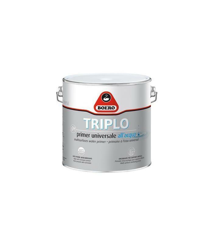 boero boero triplo grigio 0,500 litri primer ancorante all'acqua ideale per supporti difficili e come mano di fondo sul legno