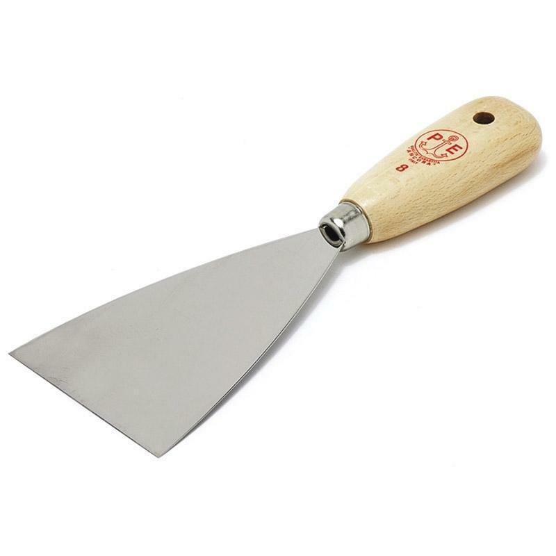 ancora ancora spatola in acciaio con manico in legno mm 30 cod.5013