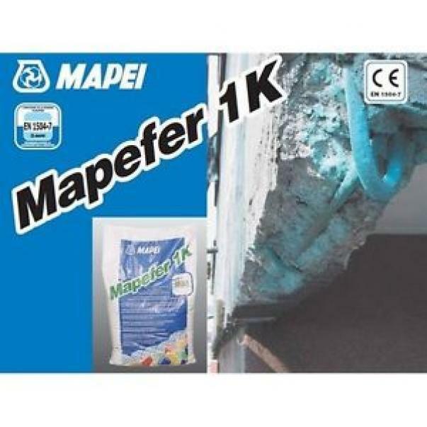mapei mapei mapefer 1k sacco 5 kg cod.276645 malta cementizia anticorrosiva monocomponente per la protezione dei ferri d'armatura.