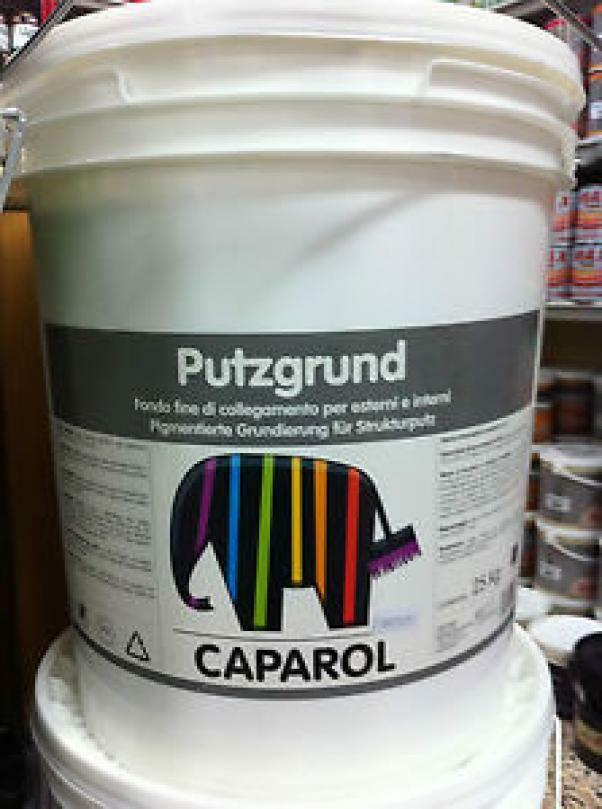caparol caparol putzgrund bianco 25 kg fondo fine di collegamento per esterni e interni