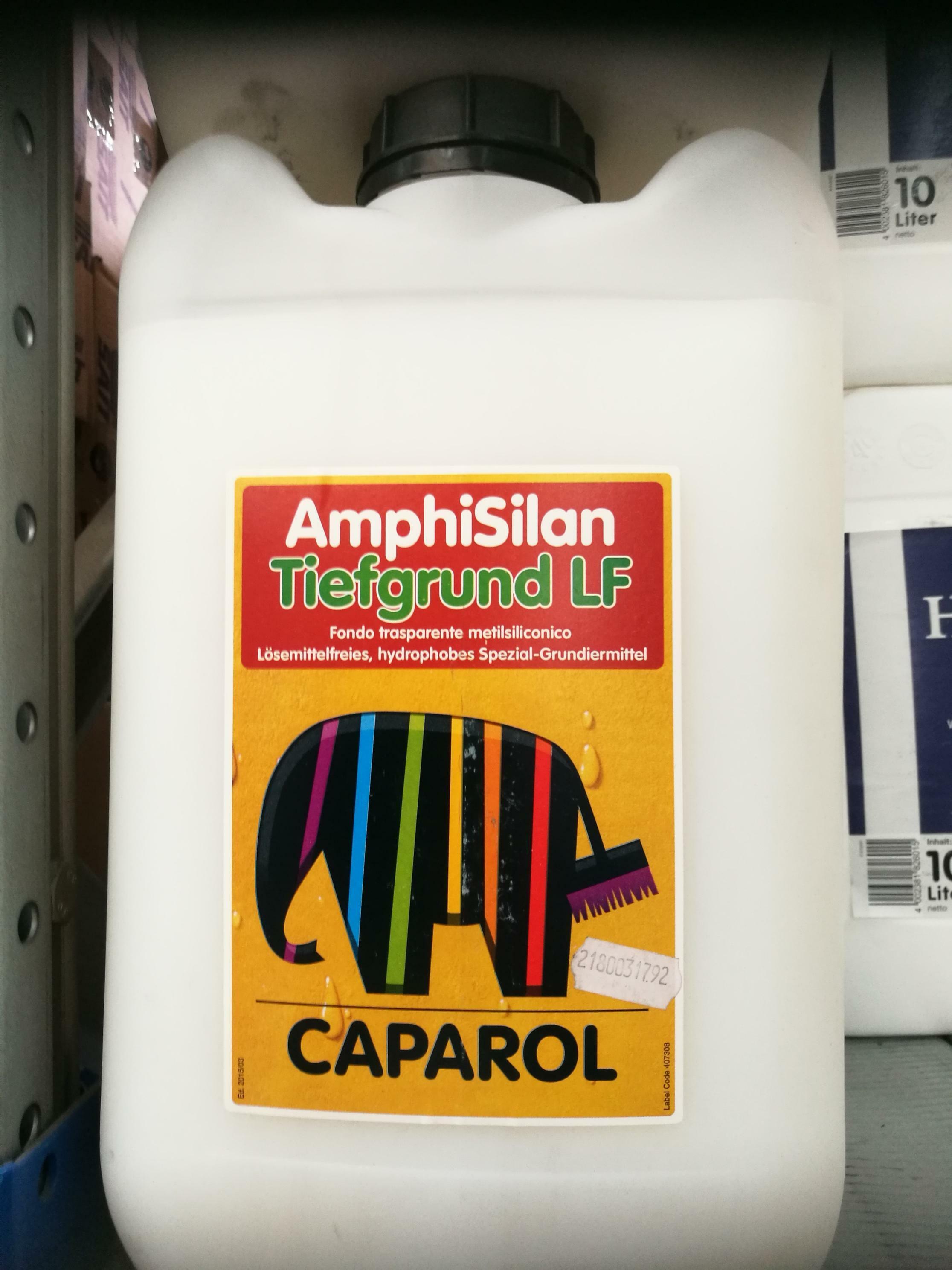 caparol caparol fondo trasparente amphisilan tiefgrund lf per intonaci esterni e interni a base calce e bastardi   10 litri