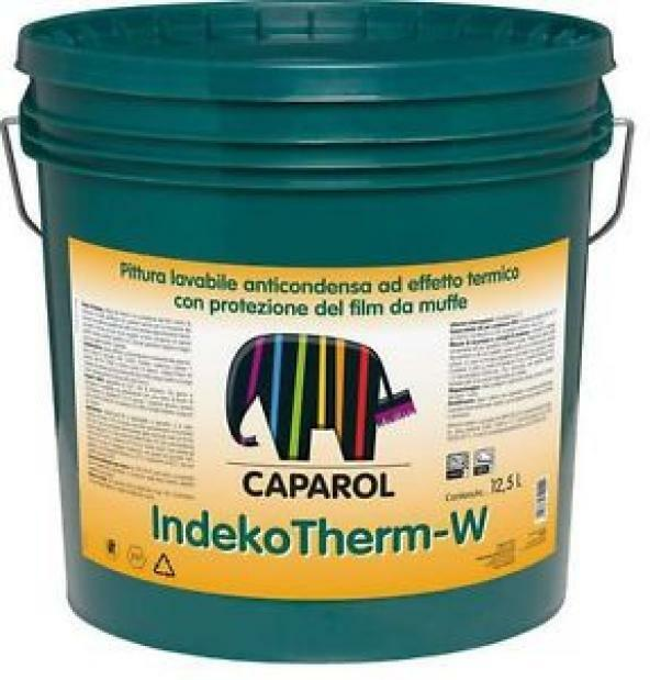 caparol caparol indekotherm w 12,5 lt pittura lavabile anticondenza ad effetto termico con protezione del film da muffe