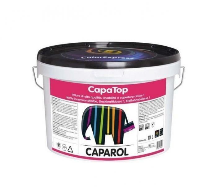 caparol caparol capatop bianco/base 1 14 lt pittura opaca, ultra fine, superlavabile ed alta copertura