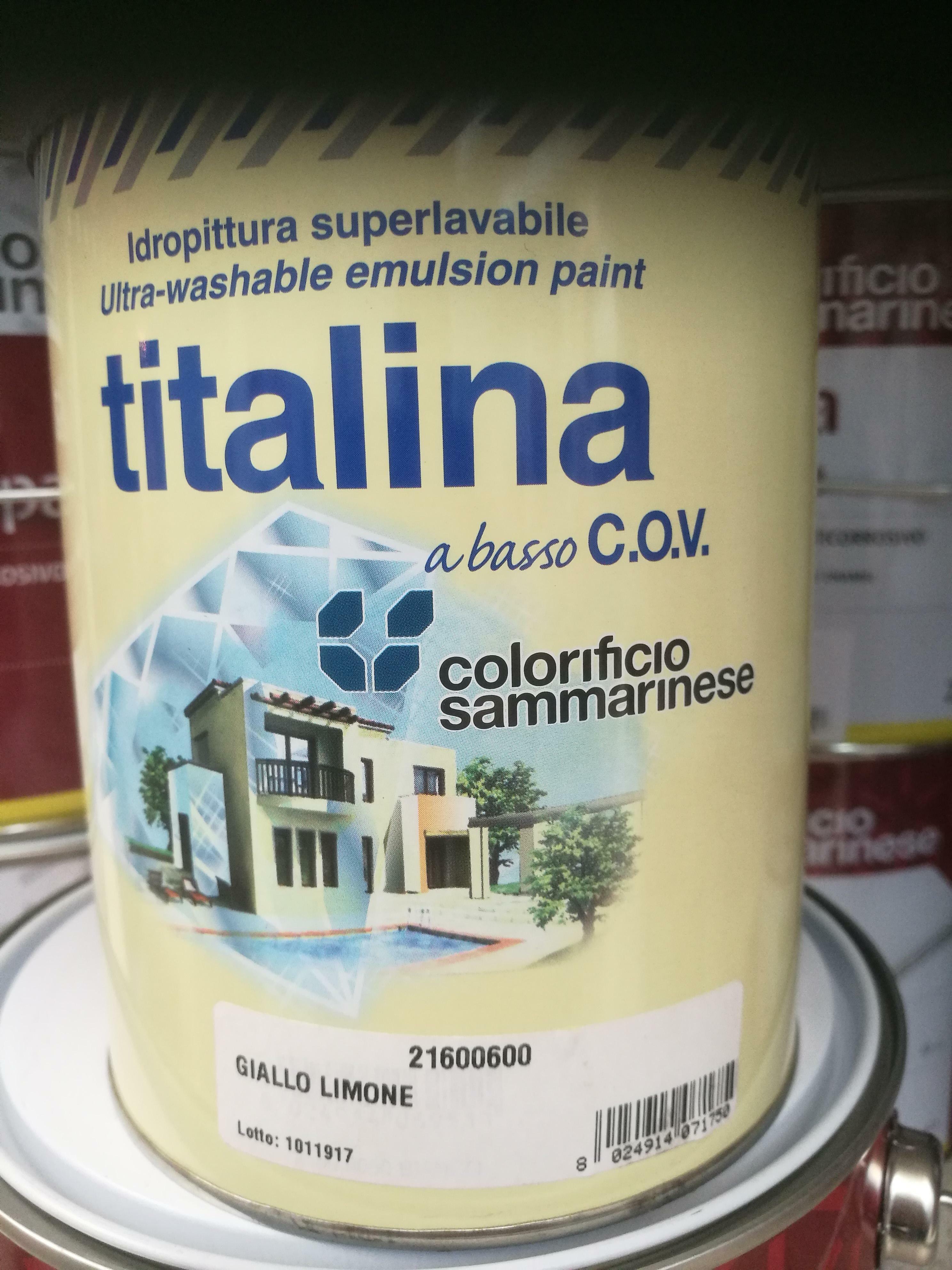 sammarinese sammarinese titalina giallo limone 0,75 lt idropittura superlavabile extra