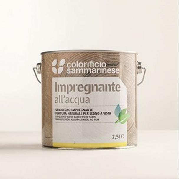 sammarinese sammarinese sanolegno impregnante all'acqua per legno colore noce scuro 0,75 lt