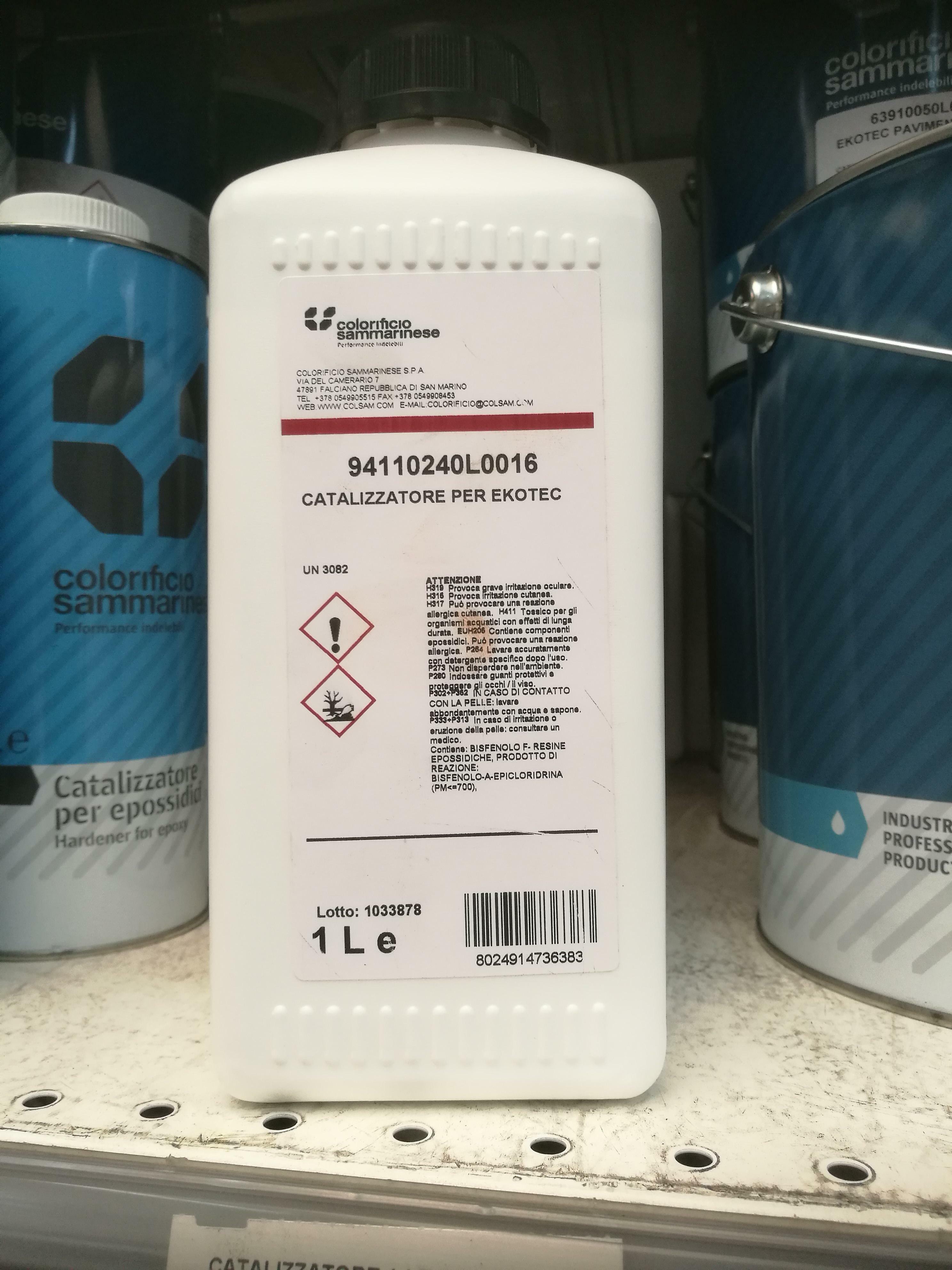 sammarinese sammarinese catalizzatore per ekotec 1 lt codice 9411.0240