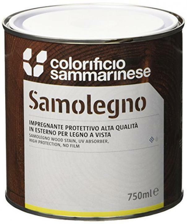 sammarinese sammarinese samolegno impregnante trasparente 0,75 litri al solvente