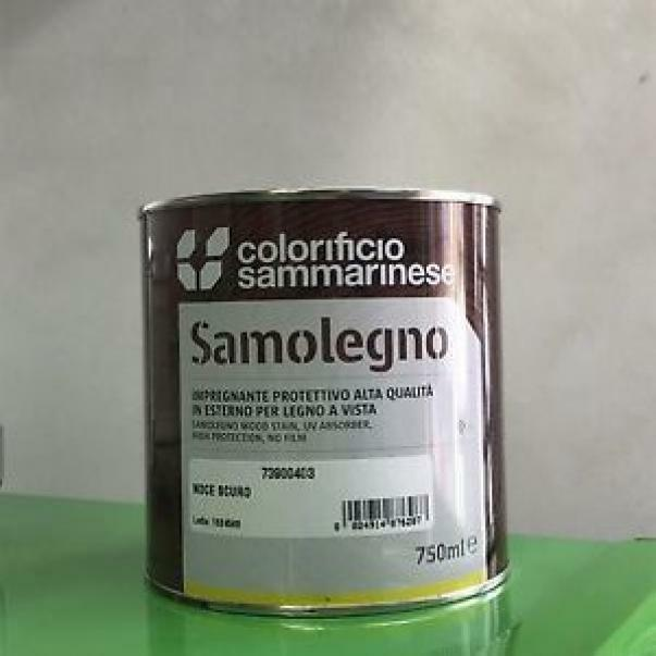 sammarinese sammarinese samolegno noce scuro 0,75 lt impregnante per legno